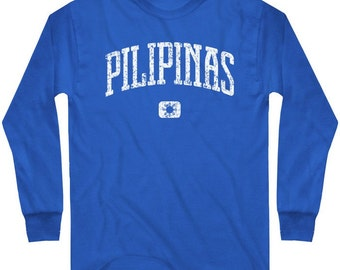 LS Pilipinas Tee - Long Sleeve Philippines T-shirt - Men and Kids - S M L XL 2x 3x 4x - Filipino - 4 Colors