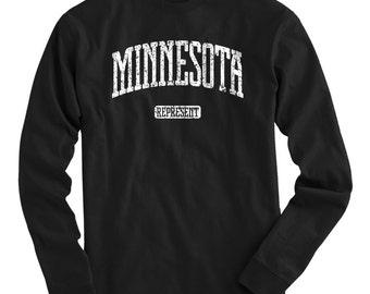 LS Minnesota T-shirt - Represent Long Sleeve Tee - Men and Kids - S M L XL 2x 3x 4x - 4 Colors