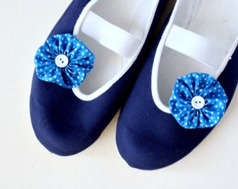 dotted sky /ballet flats shoes jarmilki sea blue poletsy romantic dot comfortable dots blue navy dots dot white handmade little sailor beach
