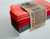 Cloth Wipes Diaper Bag Wipes - Save a Tree - Gender Neutral - Solid White Grey Ruby Red Orange Double Layer