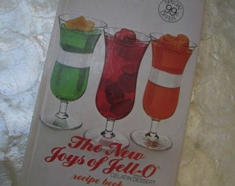 SALE 70s Jello Cook book New Joys of Jello Recipe Book 1973 Vintage Cookbook Vintage Graphics Bonus