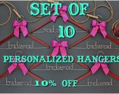 Set of 10 personalized hangers - perfect for bridal party