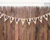 Alligator Name Banner, Alligator Theme, Birthday Party, Boys Room, Felt Name Banner, Baby Shower