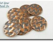 Embossed Copper Discs