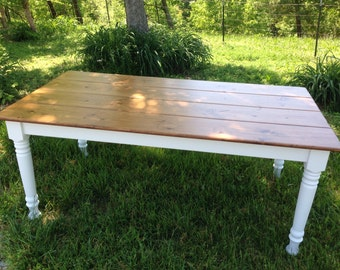 Farm Table, Dining Table, White Farmhouse Table