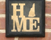 New Hampshire HOME Vintage Style Plaque/Sign Decorative & Custom Color