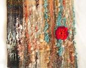Freeform No 3 Wool Cushion  - Pillow Cover - crotchet orange flower