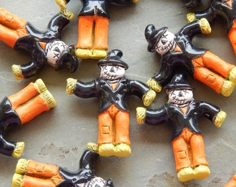 33X27mm Scarecrow Ceramic Handcrafted Pendant - Bead, 1 PIECE (INDOC599)