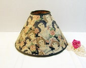 Vintage Lamp Shade Shabby Victorian Mid Century Victorian Girls