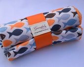 Fishys (15% off for fabric flaw) - Waterproof Baby Changing Pad (Made to Order)