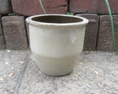 Antique Original Stoneware Crock Pottery White Fresh Farm Pick  Mid 19 Century 1800s Old Pantry Cupboard Country Kitchen Primitive Rustic