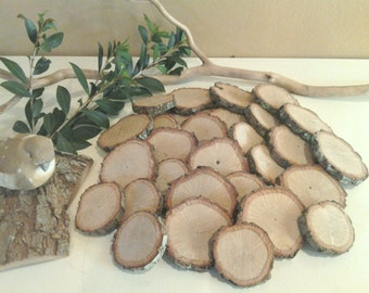 150 Assorted Rustic tree slices - Wood tree slices - Wood tree discs - Wedding guest book - Buttons - diy projects - Craft supplies