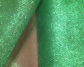 Lovely Green Metallic Mesh Net x one yard