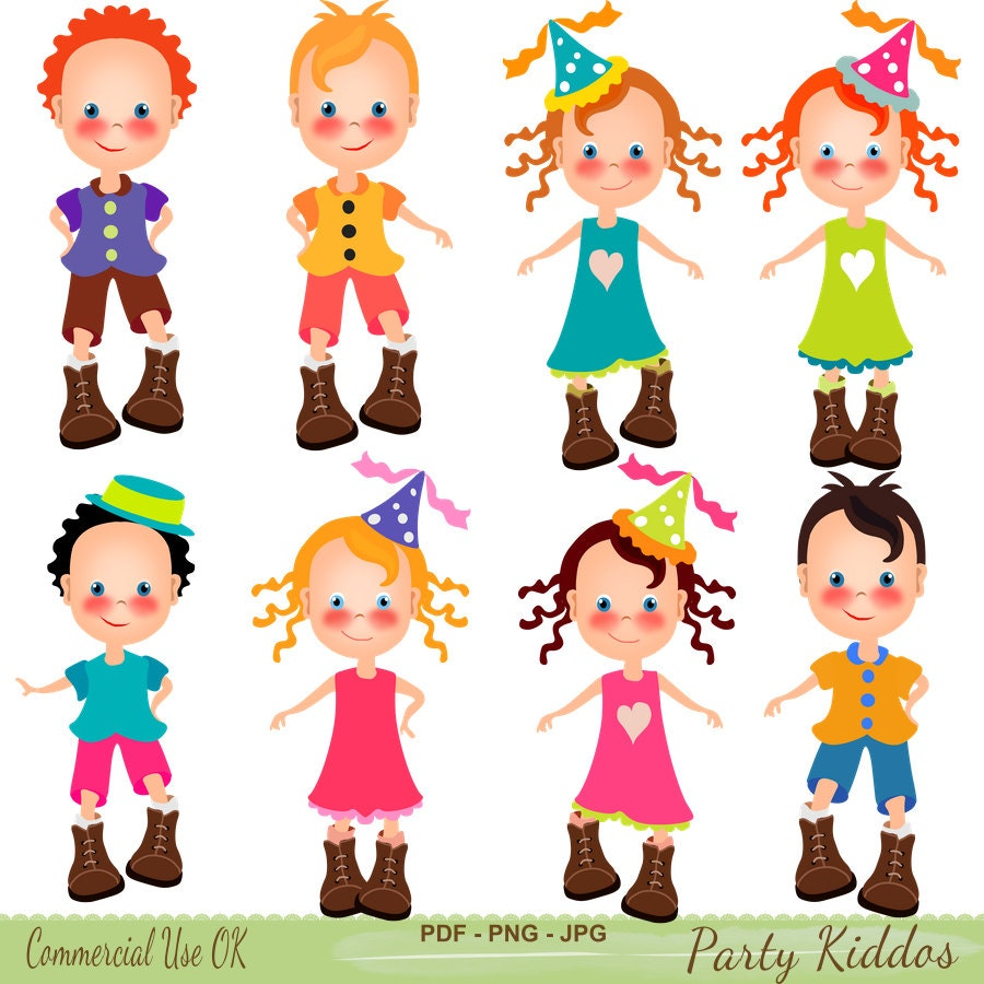 Party Clipart Boys Clipart Girls Clipart Party Printables