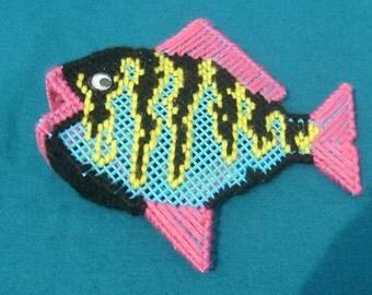 Tropical Fish Potpourri Holder in Plastic Canvas