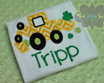 St. Patrick's Day Appliqued and Monogrammed Shirt