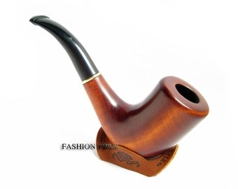 "Tobacco Pipe & Rest Gift, Wooden Pipes-Smoking Pipe/Pipes. Hand Carved ""SHERLOCK PIPE"" Designed For Pipe Smokers - Best Price in FPS"