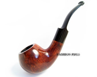 SALE BRIAR CLASSIC Tobacco Pipe Carving Handmade Wooden Pipe Bent 5.5''. Structure Features Wood, Designed for pipe smokers