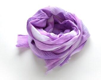 Radiant Orchid Shibori Scarf