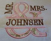 Split Ampersand Embroidery Applique Design Split Mr and Mrs Wedding Embroidery Design