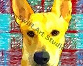 Basenji Dog Digital Download Image  Art Painting Print of original painting