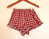 Little Skout gingham ruffle knickers made from limited edition gingham fabric