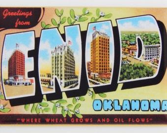 Greetings from Enid Oklahoma Fridge Magnet