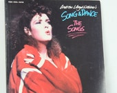 Song and Dance with Bernadette Peters Vocal Songbook , Used Piano Vocal Guitar Sheet Music, Andrew Lloyd Webber Music