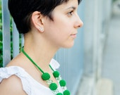 Green necklace - Emerald necklace