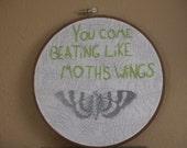 Moths Wings Passion Pit Song Lyrics Botanical Hoop Art