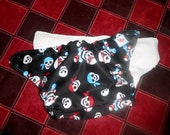Trim One Size Red and Blue Pirate Pocket Diaper