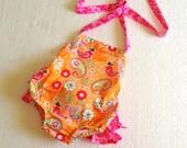 Ruffled Sunsuit Pattern, Newborn to Two Years, Baby Romper Pattern