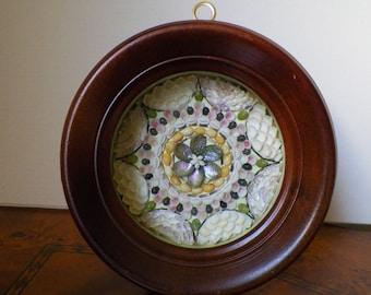 Miniature Sailors Valentine in the Vintage Frame, Home Decor, framed shell art
