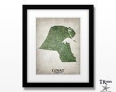 Kuwait Map - Home Is Where The Heart Is Love Map - Original Custom Map Art Print Available in Multiple Size and Color Options