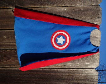 Captain America Cape - Handmade and Reversible