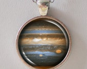 Planet Pendant, Jupiter Necklace -Cosmic, Astronomical, Star, Space, NASA- Galaxy Pendant Series