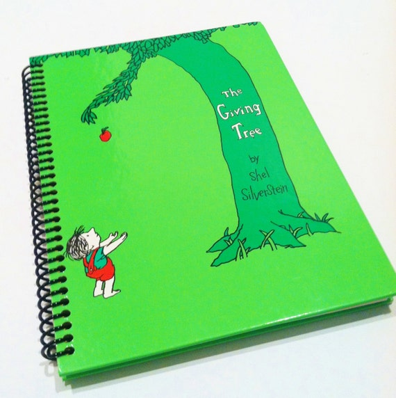 Covers only -- Notebook THE GIVING TREE Shel Silverstein Recyled spiral jouranl notebook