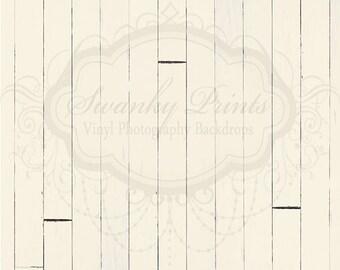 SWANKY PRINTS ORIGINAL 5ft x 5ft Vinyl Photography Backdrop / Cream Wood
