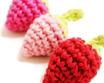 PATTERN - Simple & Sweet Summer Strawberry Pattern Crochet Amigurumi Strawberry