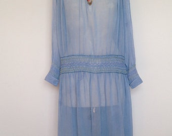 Blue gypsy wedding dress 1920/1930
