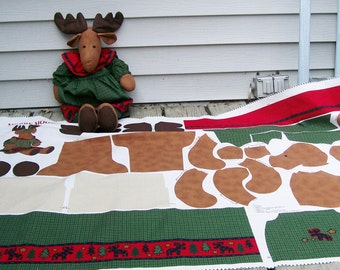 MERRY MOOSE Doll & Clothes Pattern Fabric Panel VIP Cranston Cotton Craft Sew Christmas - No finished doll