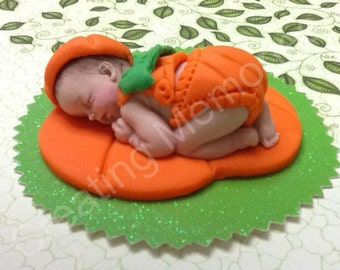 MY PUMPKIN BABY Cake topper - Edible pumpkin Baby Cake topper - Birthdays, Showers and more