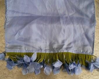 Periwinkle Silk Petal Scarf