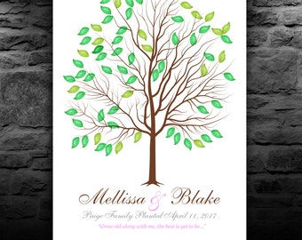 Wedding Guestbook Tree | Guestbook for 200-250 Guests | Wedding Tree Guest Book | GUEST SIGN IN | personalized tree print 20x30 num. 144