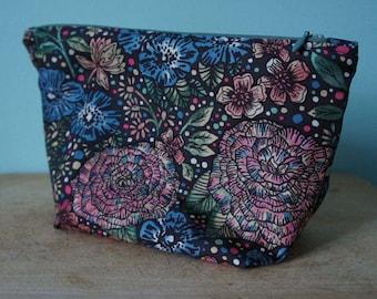 Medium Liberty Fabric Make up Bag