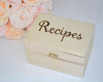 Recipe Card Box, Recipe Box
