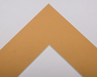 5x7 Single Mat - Haystack Yellow for 8x10 Frame