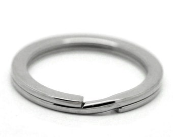 10 Stainless Steel Split Rings - WHOLESALE - 33mm -  Heavy Duty - Ships IMMEDIATELY  from California - A382a