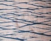 Hand-Dyed Indigo Shibori Quilting Fabric, Natural Indigo (2)