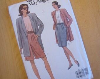 Uncut Vogue Sewing Pattern 8264 - Misses Jacket, Skirt & Shorts -  Size 18-22